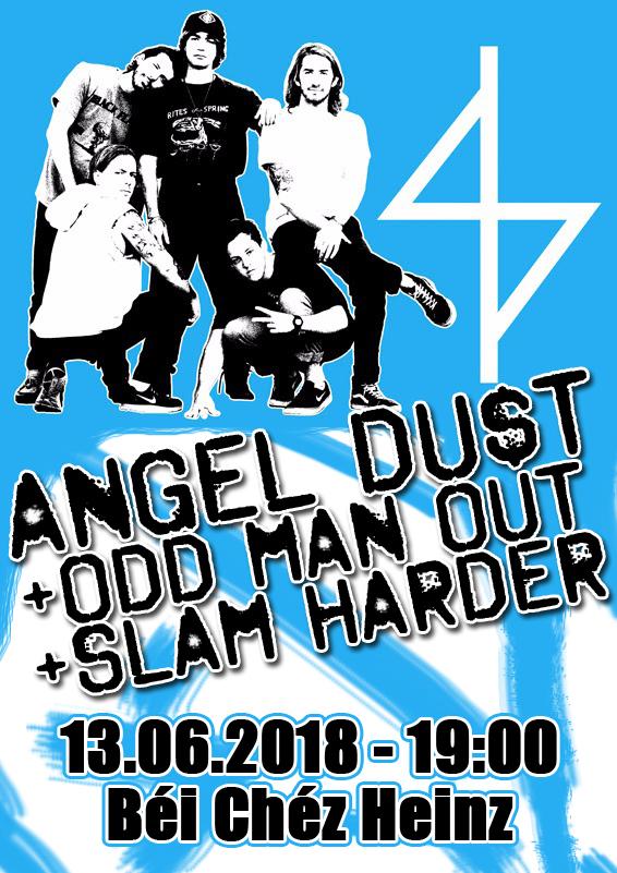 slam harder angel dust odd man out live bei chez heinz hannover hardcore